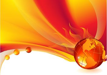 Burning Planet Background - vector gratuit #154969