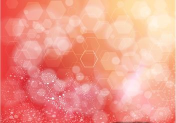 Orange Background Hexagon Design - Free vector #155019