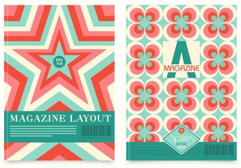 Free Retro Magazine Layout Vector - vector gratuit #155099