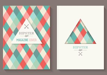 Free Hipster Magazine Covers Vector - Free vector #155119