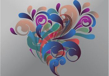 Abstract Bouquet Vector - Free vector #155259