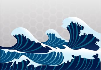 Great Wave Vector - Free vector #155279