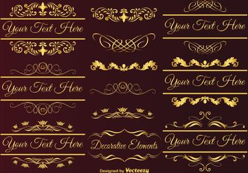 Gold Design Elements - vector gratuit #155359