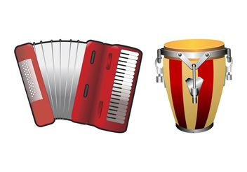 Musical Instruments Designs - vector #155439 gratis