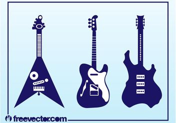 Vector Electric Guitars - vector gratuit #155509