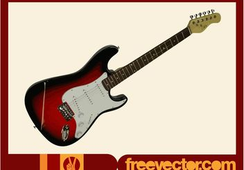 Burgundy Electric Guitar - vector gratuit #155539