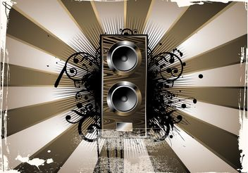 Grunge Musical Background - vector #155579 gratis