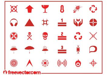 Hazard Symbols And Icons - vector gratuit #155679