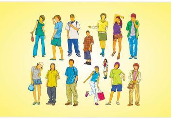 Young People - vector gratuit #155739