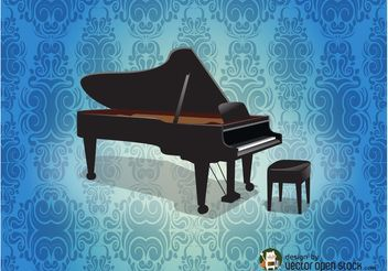 Grand Piano Background - vector gratuit #155749