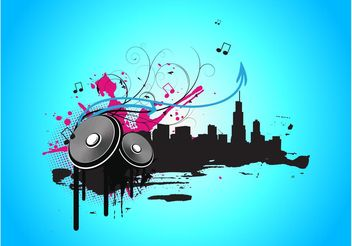 Music City Vector Graphics - Free vector #155779
