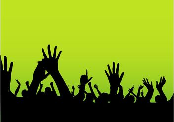 Party Hands - Kostenloses vector #155839