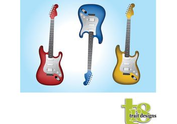 Electric Guitars - vector gratuit #155849