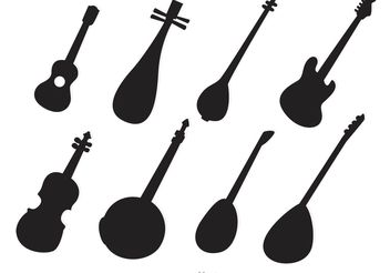 Silhouette String Instruments Vectors - Free vector #155869