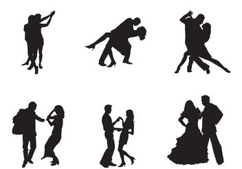 Free Vector Dancing Couples - Free vector #155889
