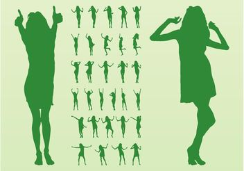 Vector Dancing Girls - Free vector #156059