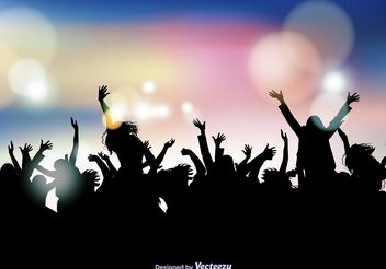 Party Crowd Background - Kostenloses vector #156079