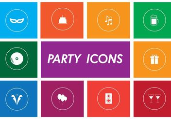 Party Vector Icons - Free vector #156109