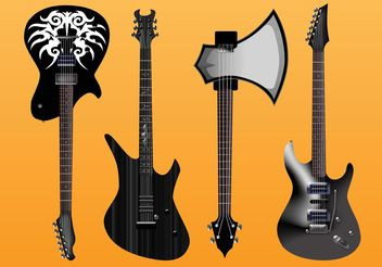 Electric Guitars Vector Freebies - бесплатный vector #156119