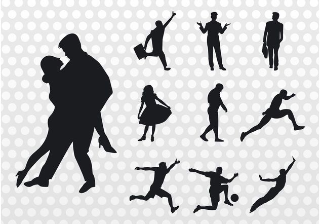 People Silhouettes Vector - Free vector #156229