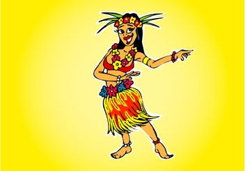 Hawaiian Girl - vector gratuit #156299