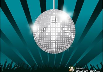 Disco Party Vector - Free vector #156309