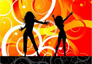 Dancing Girls Vector - Free vector #156319