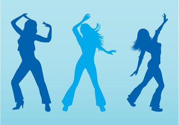 Dancing Vector Girls - Free vector #156339