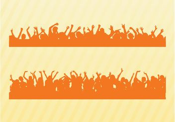 Dancing Crowds Silhouettes - Free vector #156369