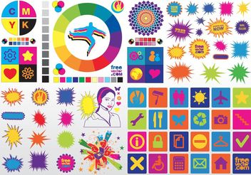 Colorful Vector Clip Art - Kostenloses vector #156529