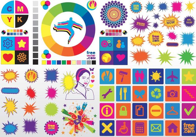 Colorful Vector Clip Art - vector gratuit #156529
