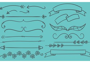 Hand Drawn Banners - Free vector #156569