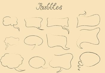 Hand Drawn Speech Bubble Vectors - Kostenloses vector #156609