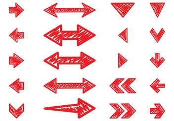 Hand Drawn Arrows Set - vector gratuit #156619