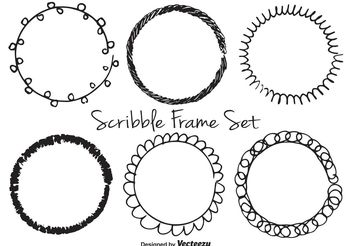 Scribble Frame Set - vector gratuit #156639