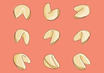 Hand Drawn Fortune Cookie Vectors - Free vector #156649