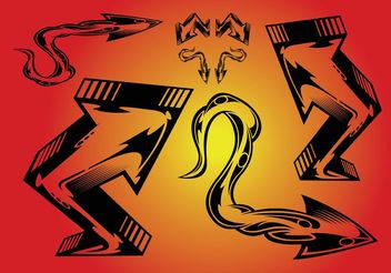 Arrows Tattoo - Free vector #156739