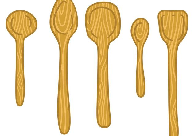 Free wooden spoon vector - Free vector #156889