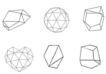 Free Vector Geometrical Shape Set - Kostenloses vector #156919