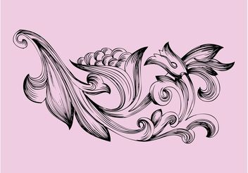 Antique Flower Decoration - Free vector #156999