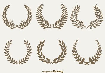 Royal Laurel Wreaths - vector gratuit #157029