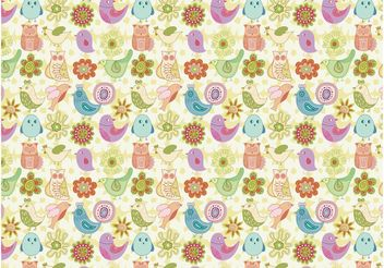 Bird Pattern - vector #157049 gratis