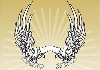 Winged Banner - vector #157089 gratis