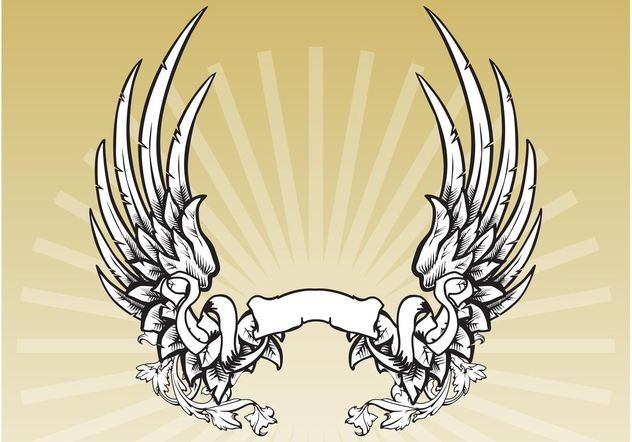 Winged Banner - Free vector #157089