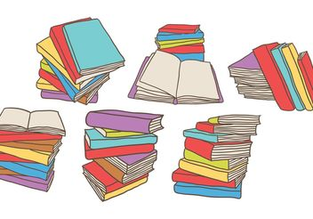 Free Stack of Books Vectors - бесплатный vector #157199