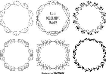 Decorative Frame Set - Free vector #157249