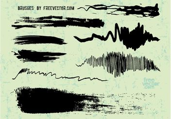 Ink Brush Strokes - Free vector #157319