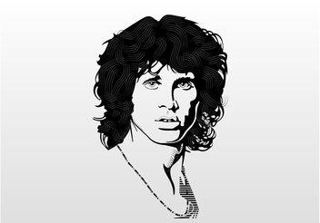 Jim Morrison Vector Portrait - бесплатный vector #157459