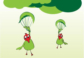 Funny Cartoon Birds - vector #157489 gratis