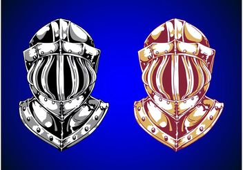 Knight Helmets - Free vector #157519